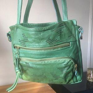 Handbags - Green leather Valhalla Brooklyn bag